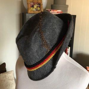 German inspired Gray Felt Costume Hat